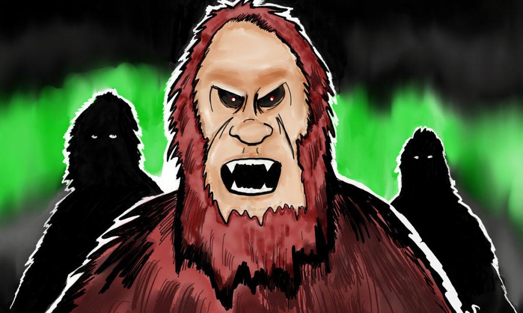 Bigfoot iPad illustration by Mark Scheetz